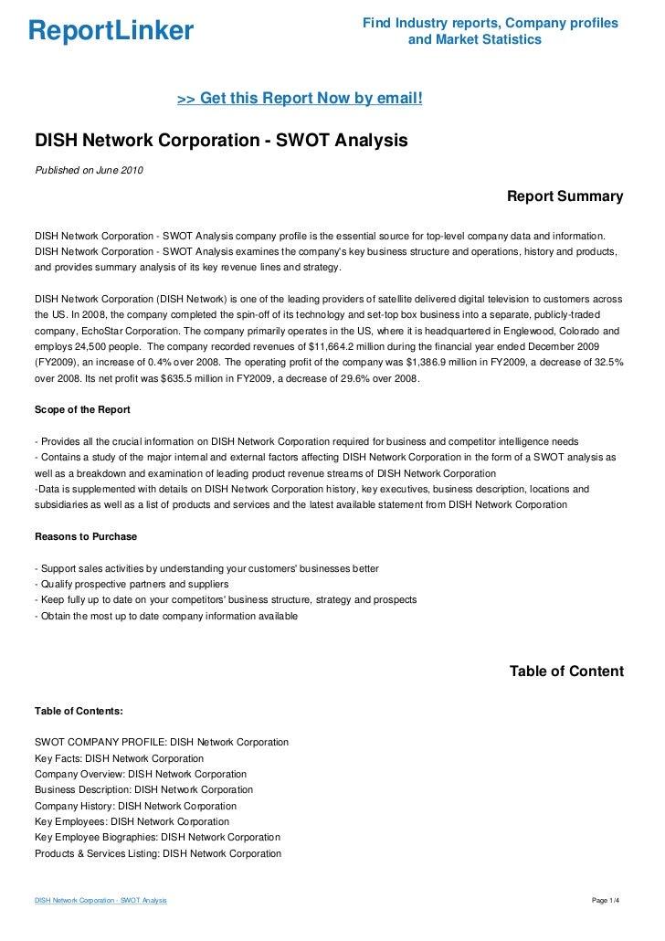 Dish network external analysis