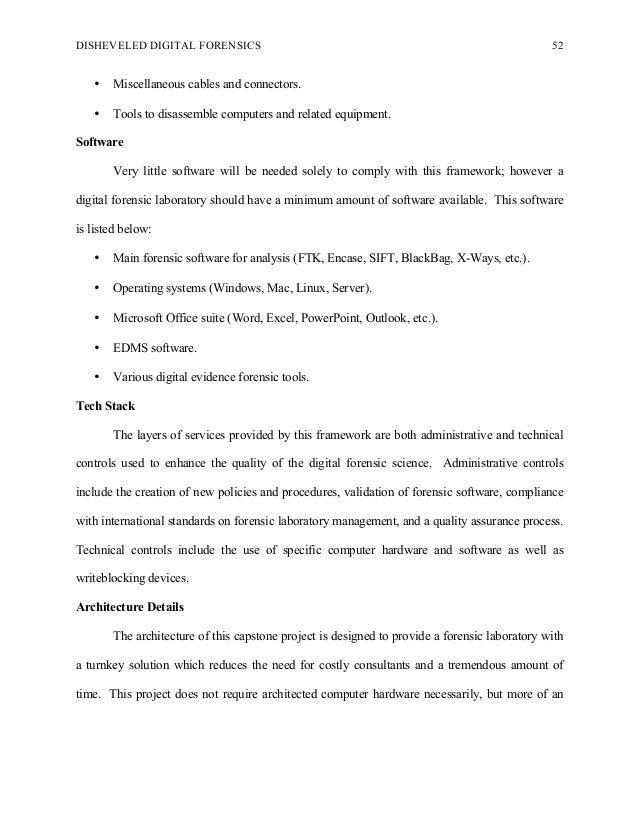 Digital forensics thesis