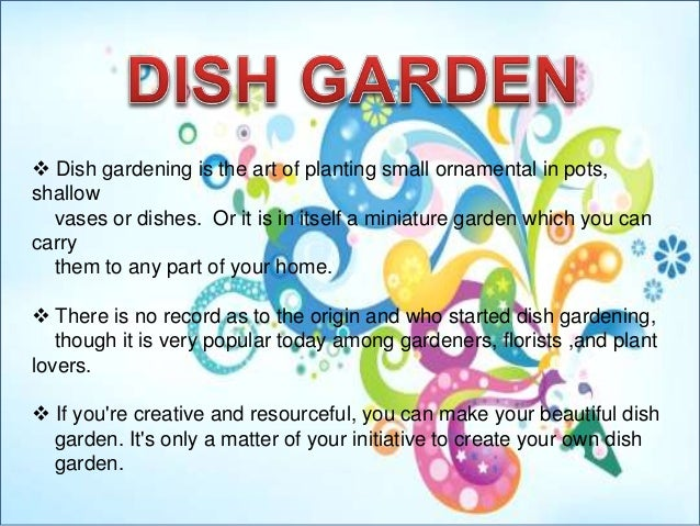 Dish Gardening Is The Art Of Planting Small Ornamental In Pots, Shallow  Vases Or ...