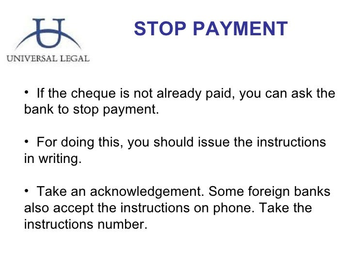 how to write cheque stop payment letter