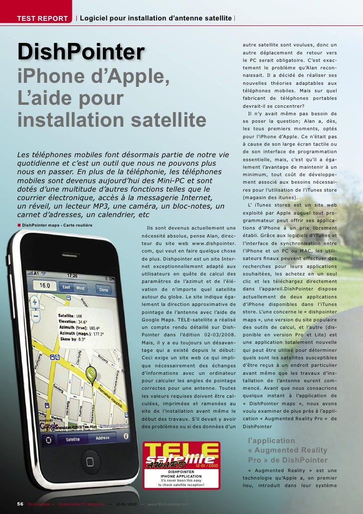 TEST REPORT                   Logiciel pour installation d'antenne satellite     DishPointer                              ...
