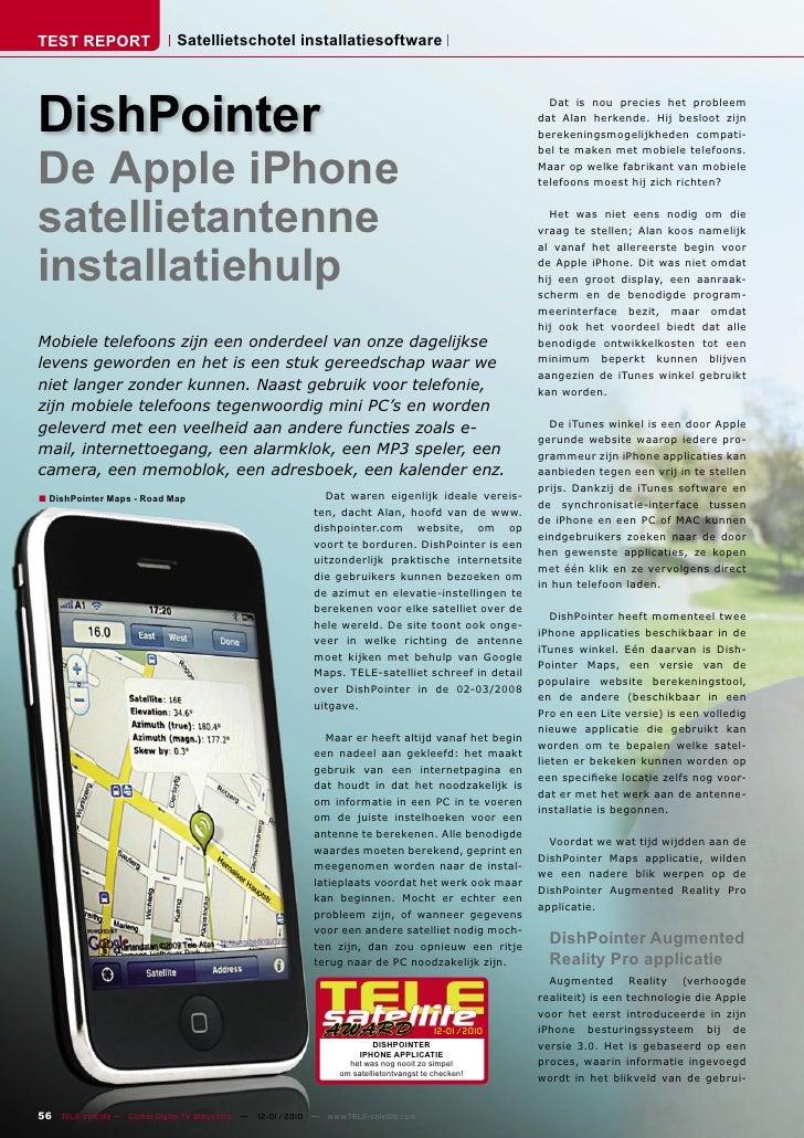 TEST REPORT                   Satellietschotel installatiesoftware     DishPointer                                        ...