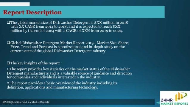 Dishwasher detergent market report 2019 history, present and