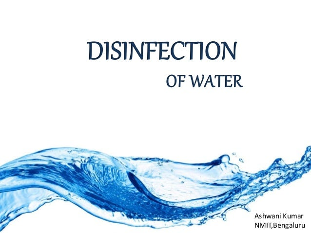 Disinfection of water