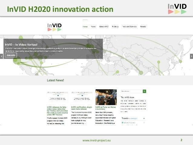 The InVID Vefirication Plugin at DisinfoLab Slide 2