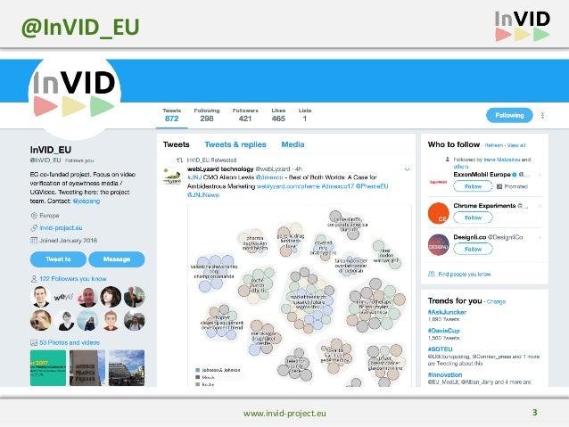 The InVID Vefirication Plugin at DisinfoLab Slide 3
