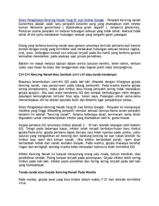 Disini Pengobatan Kencing Nanah Yang Di Jual Online Google - Penyakit kencing nanah Gonorrhea adalah salah satu penyakit k...
