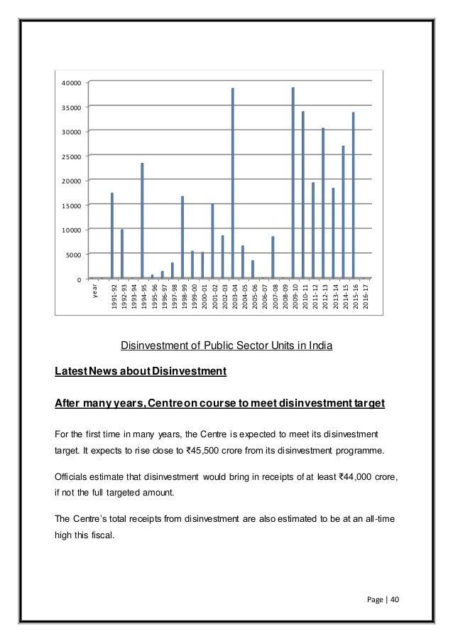 disinvestment of public enterprises pdf file