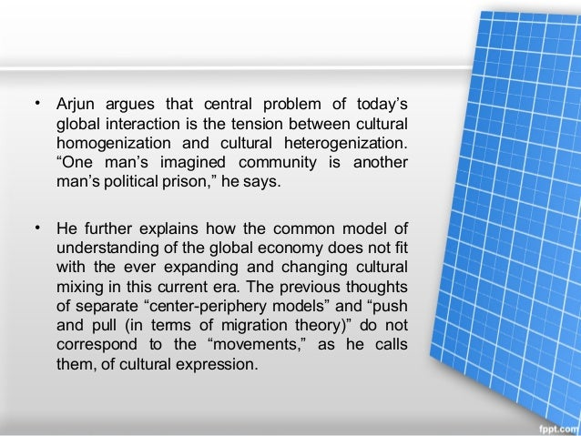 define cultural homogenization