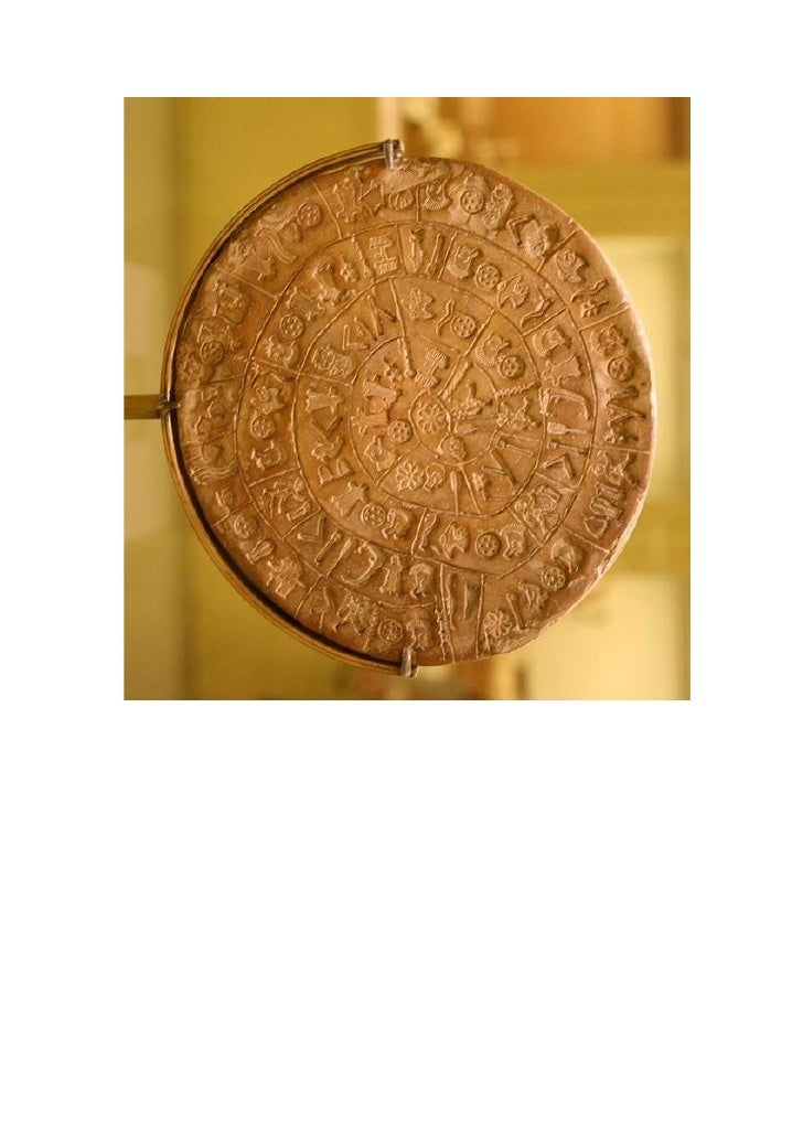 PHAISTOS DISC, front side A