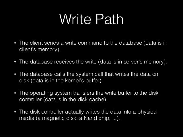 Disk and page cache Slide 3