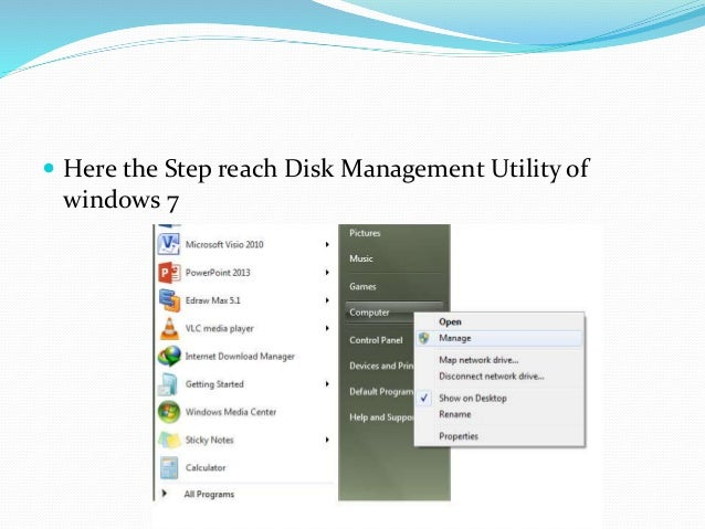 how to partition hard drive disk management