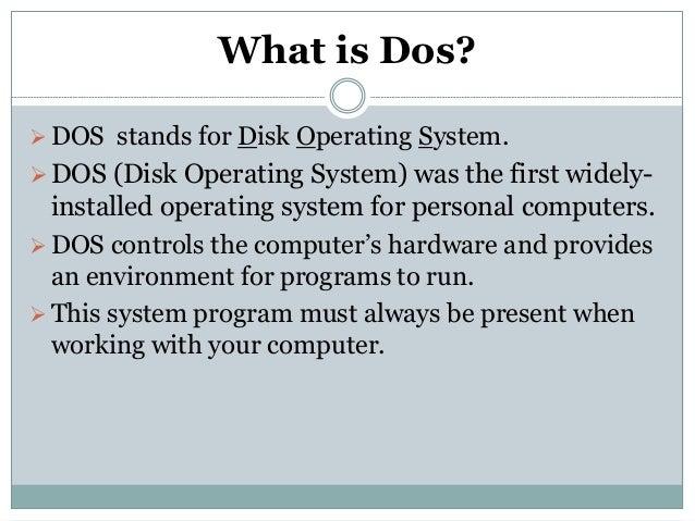 Disk operating system Essay
