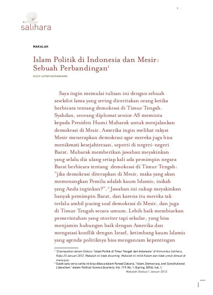 1MakalahIslam Politik di Indonesia dan Mesir:Sebuah Perbandingan1oleh: Luthfi Assyaukanie                   Islam Politik ...