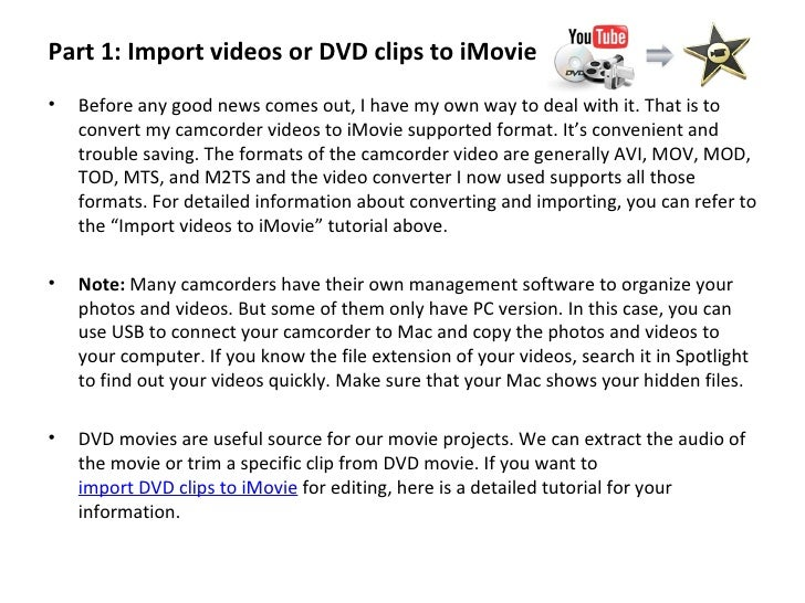 how to move video clips in imovie