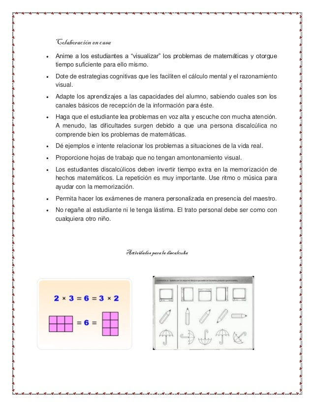 Fantástico Hojas De Trabajo De Matemáticas Dislexia Viñeta - hojas ...