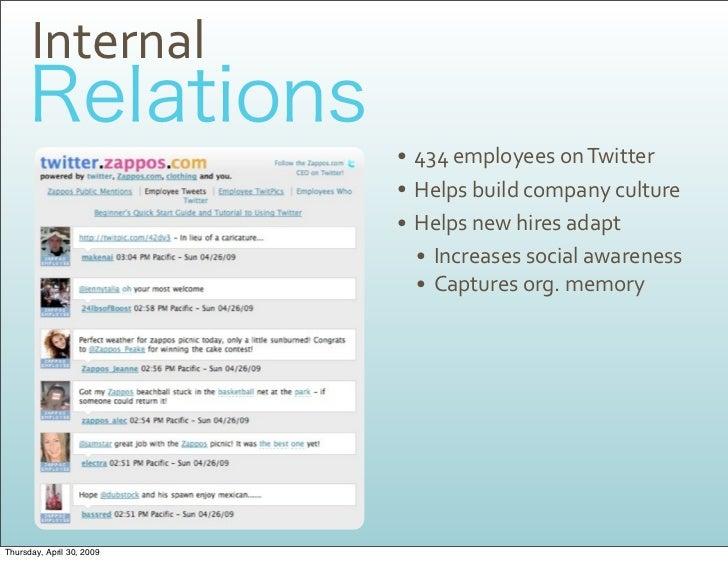 Internal                            • 434employeesonTwitter                            • Helpsbuildcompanyculture   ...