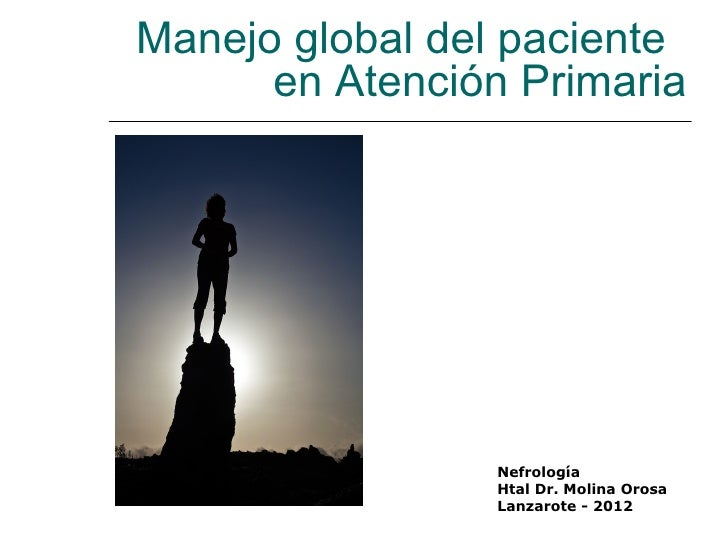 Manejo global del paciente      en Atención Primaria                 Nefrología                 Htal Dr. Molina Orosa     ...
