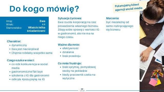 Persona szablon / Grupa docelowa / Strategia marki / Marketing Slide 3