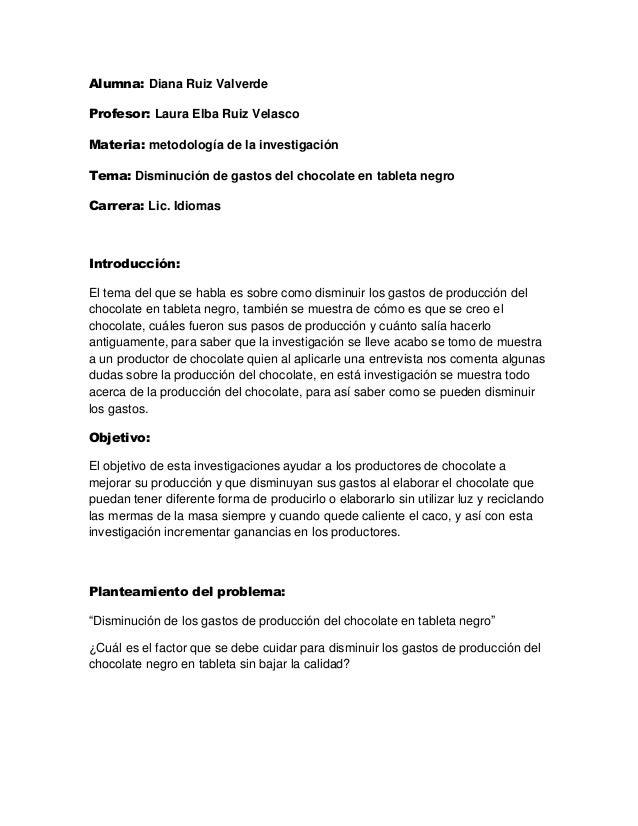 Alumna: Diana Ruiz ValverdeProfesor: Laura Elba Ruiz VelascoMateria: metodología de la investigaciónTema: Disminución de g...
