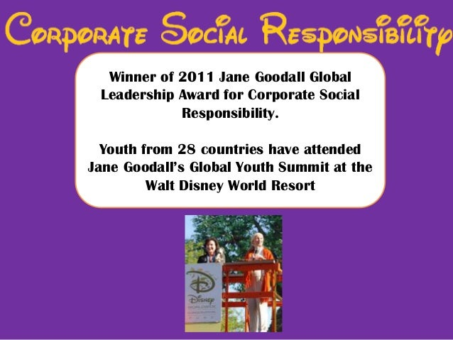 corporate social responsibility disney