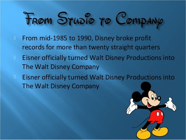 Walt disney company and stakeholders