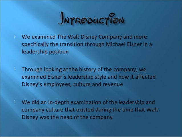 walt disney leadership style essay