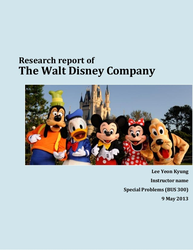 walt disney company research paper Hey, i'm working on a 15 page research paper on walt disney, so if anyone would be so kind as to tell me any good books that i should try and find, or.