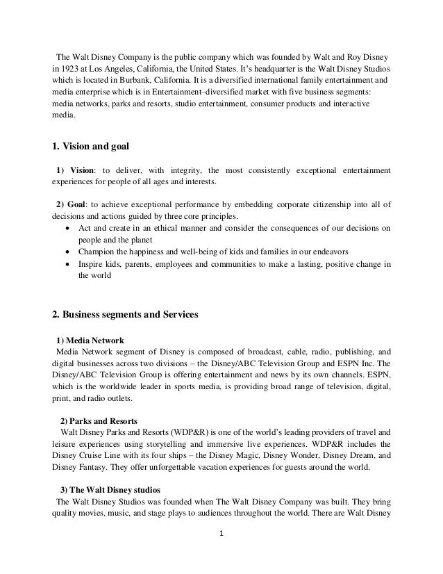 strategies adopted by walt disney essay Essay analyzing walt disney conflict and 90,000 analyzing walt disney conflict essay but also its rate of adopting new strategies and techniques to.