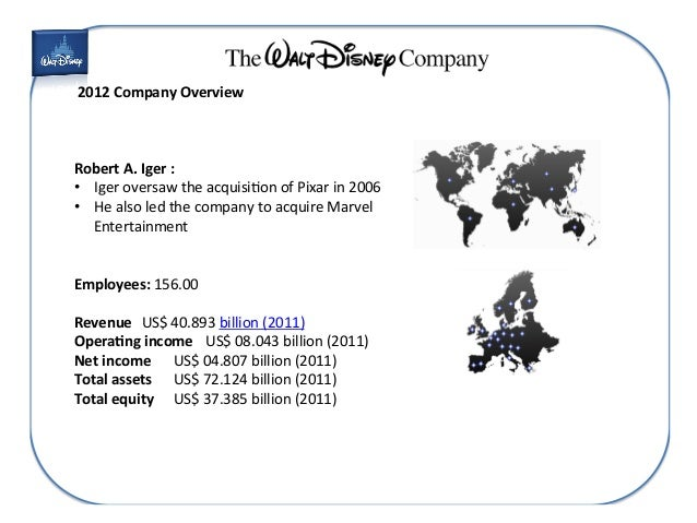 """an overview of walt disney studio company """"we are strategically positioning our businesses for the future, creating a more effective, global framework to serve consumers worldwide, increase growth, and maximize shareholder value,"""" said robert a iger, chairman and chief executive officer, the walt disney company """"with our unparalleled studio."""