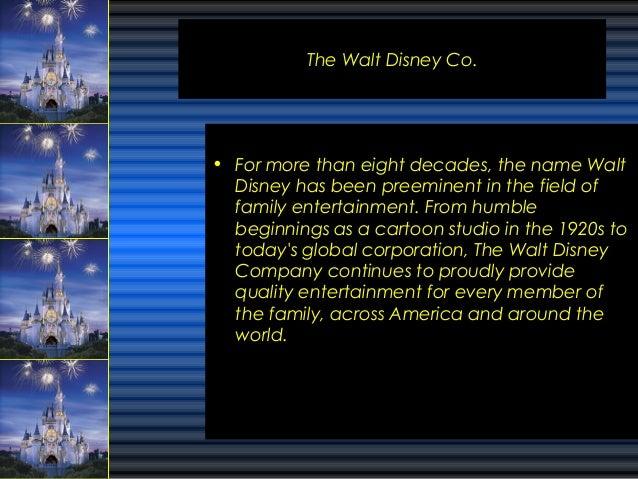 ABOUT THE WALT DISNEY COMPANY
