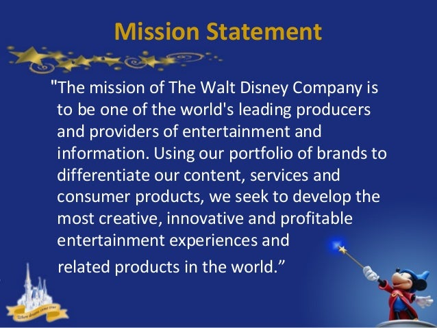Disney world vision statement