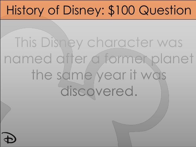 Cartoon Characters Jeopardy : Disney jeopardy updated