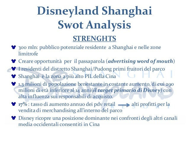 analysis swot disneyland paris Is disneyland® paris a competitor in comparison to other amusement parks which challenges does it currently face to find answers these questions, we will analyse disneyland® paris performance through a swot-analysis, which gives us an idea of its strengths, weaknesses, opportunities and.