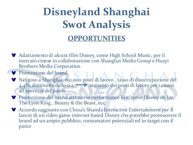 disneyland swot Check out our top free essays on swot disneyland to help you write your own essay.
