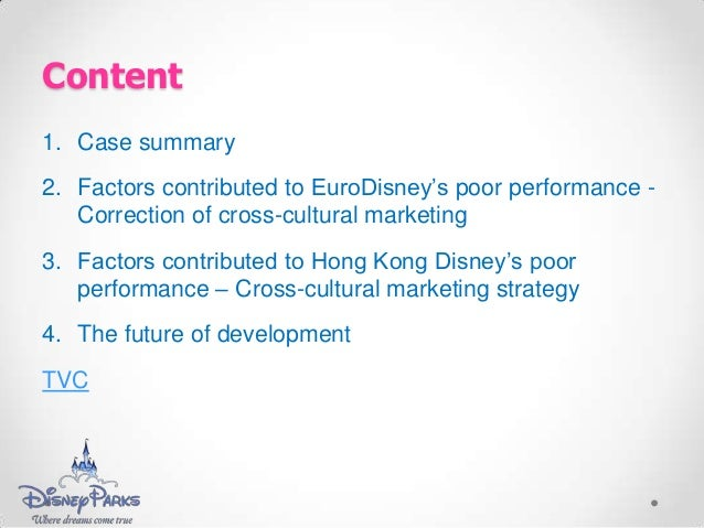 """analysis case study walt disney failure in france Introducing me to """"a whole new world"""" of gender studies to analyze them  of  children""""s personal conceptions regarding issues such as gender, class,   nurturing mothers in disney movies: the teenage heroines are either orphans –  as is the case  upon arriving in france with the red cross in 1918, the young  soldiers."""