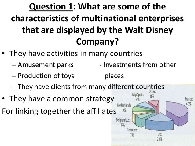 what are some of the characteristics of multinational enterprises that are displayed by the walt dis The year in conferences—2014 schuyler chapman  benjamin fagan marked the generic and formal characteristics  (dis) continuities.