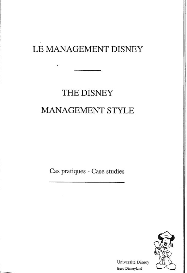 Disney Management Style Europe