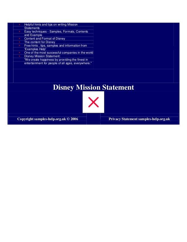 disney mission statement
