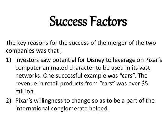 Pixar and walt disney merger