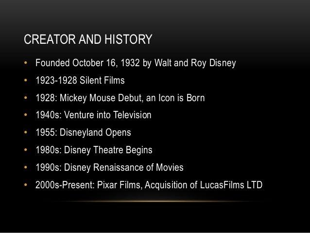 Research Powerpoint: Walt Disney Company