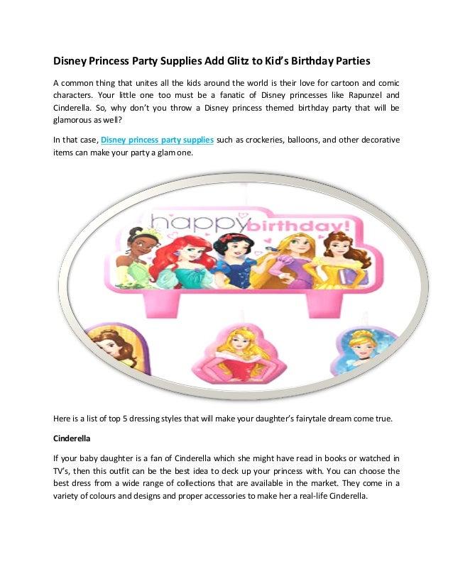 Disney Princess Party Supplies Giltz Kids Party Supplies