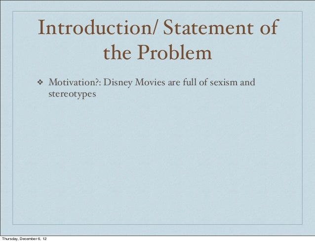 sexism and disney Disney the walt disney company is one of the largest media and entertainment corporations in the world founded on october 16, 1923 by brothers walt and roy disney.