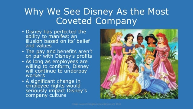 effects of organizational culture on walt disney s workforce