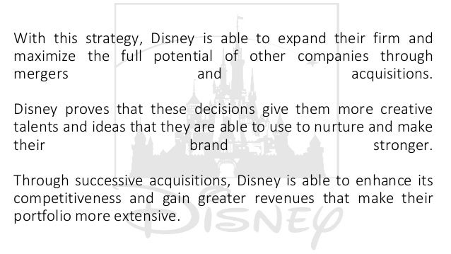 Disney Strategy Mergers & Acquisitions