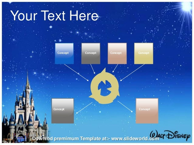Disney World Powerpoint Template - SlideWorld