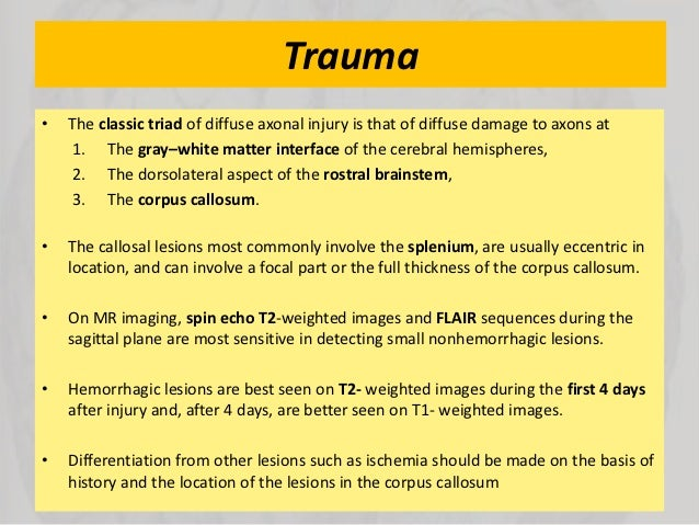 effects of damage to the corpus callosum