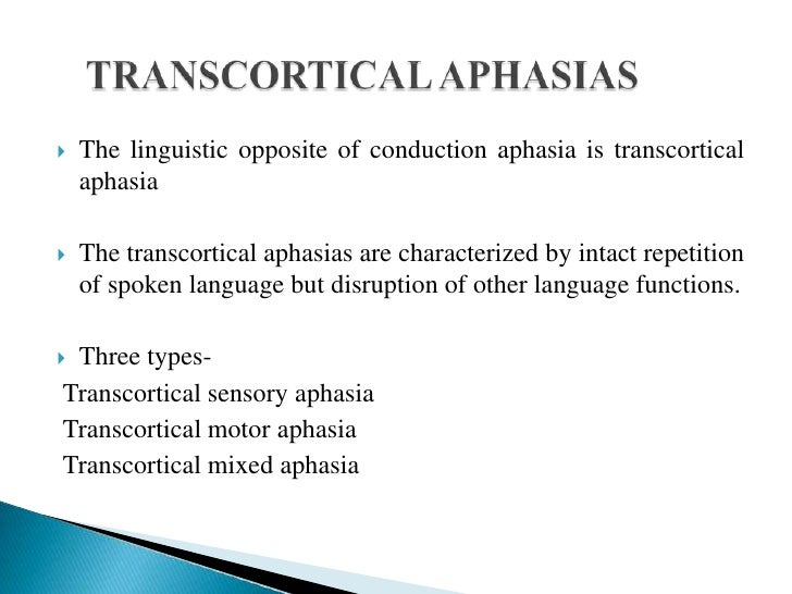 Disorders of speech and language