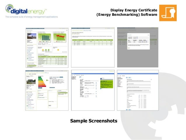 Display Energy Certificate (Energy Benchmarking) Software Sample Screenshots