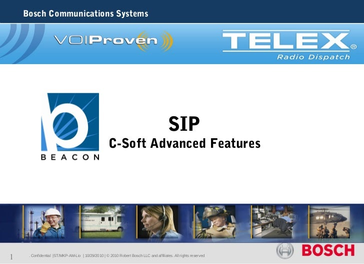 Bosch Communications Systems                                                                                       SIP    ...